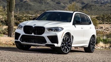 BMW X5 M SUV front 3/4 static
