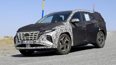 Next-generation Hyundai Tucson in camouflage