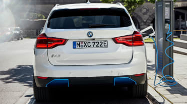 BMW iX3 charging - rear view