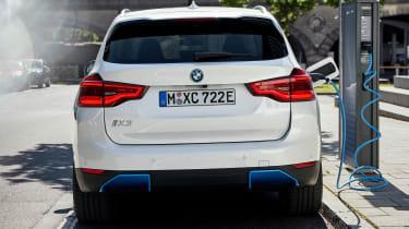 BMW iX3 charging - rear view