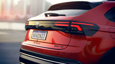 2021 Volkswagen Nivus coupe-SUV - rear close up view