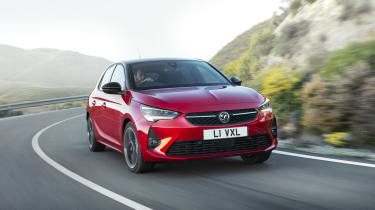 2019 Vauxhall Corsa - front 3/4 view dynamic
