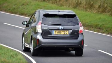 Toyota Prius+ MPV rear cornering