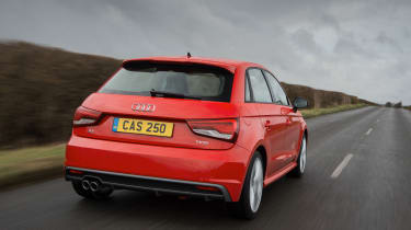 As well as regular petrol and diesel models, there's a high-performance S1 Sportback