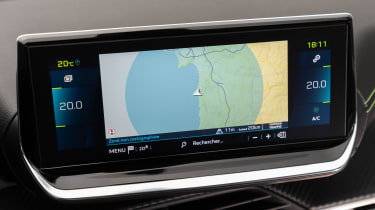 Peugeot e-208 hatchback sat nav