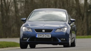 The SEAT Leon is a VW Golf for people who don't want a Golf. To our eyes it's a sleeker, more stylish car