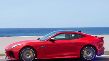 The F-Type SVR is the most expensive in the line-up at £110,000, but it's good value relative to its rivals.