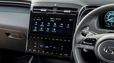 Hyundai Tucson SUV infotainment display