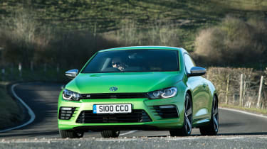 But, the Scirocco R is also likely to be in contention against hot hatches like the Ford Focus RS and SEAT Leon Cupra