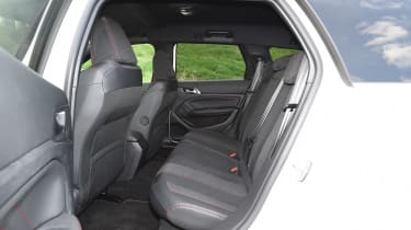 Rear legroom is a bit on the tight side – even though the estate is longer than the hatchback