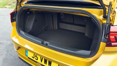 Volkswagen T-Roc Cabriolet boot - seats up