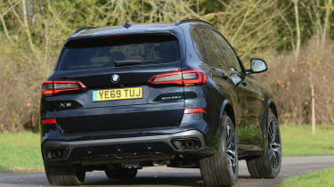 BMW X5 xDrive45e SUV rear cornering
