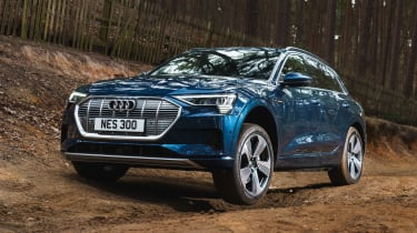 Audi e-tron SUV front action shot