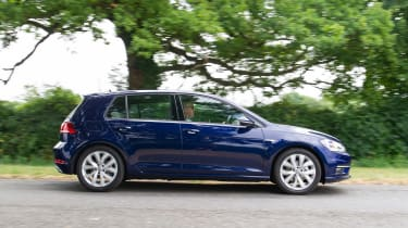 Volkswagen Golf hatchback side panning