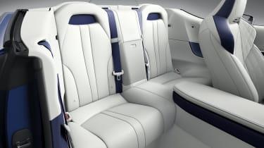 Lexus LC500 Convertible rear seats