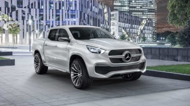 The Mercedes X-Class will see the three-pointed star adorn a pickup for the first time.
