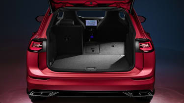 2020 Volkswagen Golf Estate R-Line boot open - one seat down