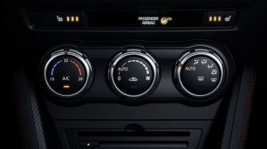 Mazda2 climate control dials