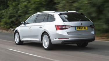 Skoda Superb Estate - rear 3/4 driving
