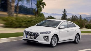 Hyundai Ioniq Plug-in Hybrid driving on road