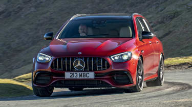 Mercedes-AMG E 63 estate cornering