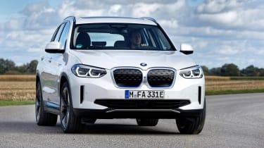 BMW iX3 SUV front cornering