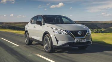 2021 Nissan Qashqai driving along road