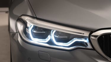 As with many modern cars, LED lights help the latest 5 Series cut a dash at night