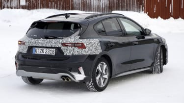 2021 Ford Focus in camouflage - rear view