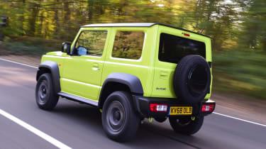 Suzuki Jimny SUV rear 3/4 tracking
