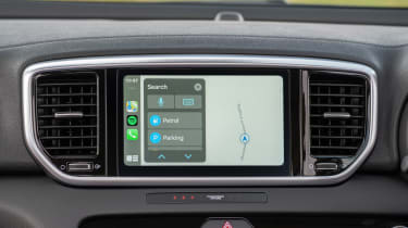 Kia Sportage SUV infotainment display