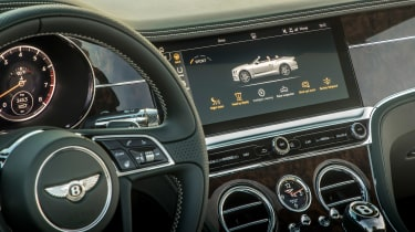 Bentley Continental GT Convertible infotainment display