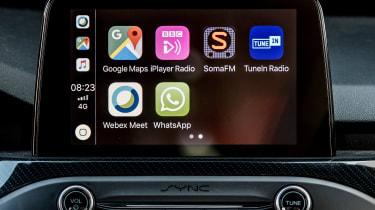 Ford Focus ST hatchback infotainment system