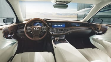 The LS promises to take care of its occupants in more fundamental ways, too, thanks to Lexus' Safety System+