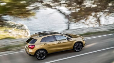 Inside, the GLA has new dashboard dials and new upholstery options