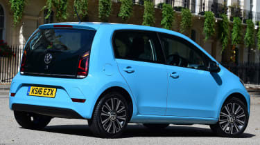 The up! shares most of its parts and engines with the Skoda Citigo and SEAT Mii