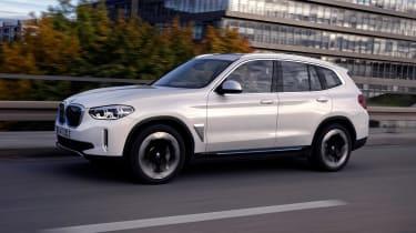 BMW iX3 SUV front 3/4 panning