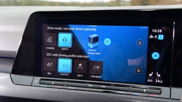 Volkswagen Golf GTE hatchback infotainment display