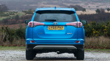 The RAV4 comes with alloy wheels as standard and, from Business Edition, front foglights
