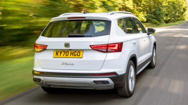 SEAT Ateca SUV rear 3/4 tracking