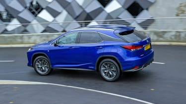 Lexus RX SUV rear 3/4 tracking