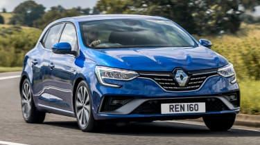 Renault Megane E-Tech hatchback front cornering
