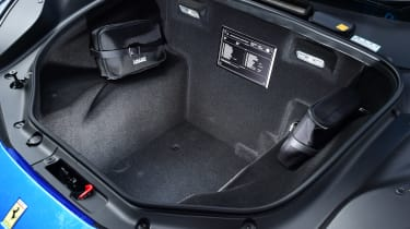 Ferrari 488 Spider convertible luggage compartment