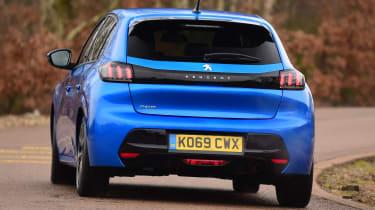 Peugeot 208 hatchback rear cornering