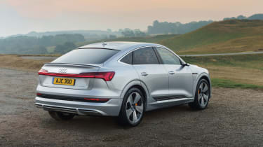 Audi e-tron Sportback SUV rear 3/4 static