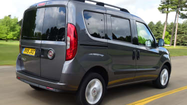Fiat Doblo driving - rear