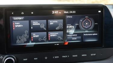 Hyundai i20 N hatchback infotainment display