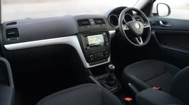 The Yeti's interior is designed for practicality rather than luxury, but quality is good nonetheless.