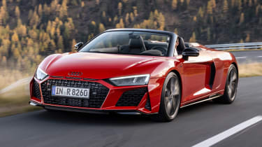2020 Audi R8 RWD Spyder - front 3/4 dynamic view