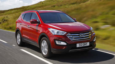 The size of the Santa Fe means it can lean in corners, but it remains stable and comfortable